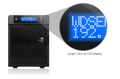 WD DX4000 LCD display