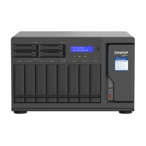 QNAP TVS-h1288X Intel® Xeon® W desktop QuTS hero NAS, ideal for high-speed media collaboration over Thunderbolt™ 3 and 10GbE