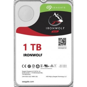 Seagate NAS IronWolf 1TB, 64MB CACHE, 5900rmp, SATA 6GB for NAS 24x7 - ST1000VN002