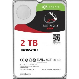 Seagate NAS IronWolf 2TB, 64MB CACHE, 5900rmp, SATA 6GB for NAS 24x7 -  ST2000VN004