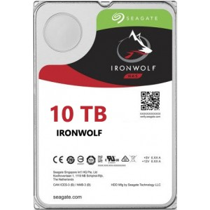 Seagate NAS IronWolf 10TB, 256MB CACHE, 7200rmp, SATA 6GB for NAS 24x7 - ST10000VN0004