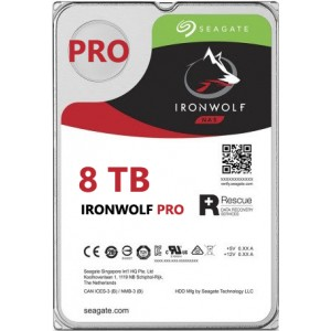 Seagate NAS IronWolf Pro 8TB, 256MB CACHE, 7200rmp, SATA 6GB for NAS 24x7 -   ST8000NE001