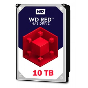 WD Red 10TB, 256MB CACHE, 5400 rpm, SATA 6GB for NAS 24x7 -WD101EFAX