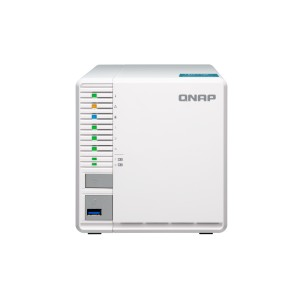 QNAP QNP-TS-351 Cost-effective 3-bay RAID 5 NAS with two M.2 SSD slots (PCIe Gen2 x1) - 4G