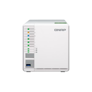 QNAP QNP-TS-332X Budget-friendly 10GbE NAS: A 3-bay NAS with three M.2 SSD slots, supporting RAID 5 for balancing capacity